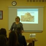 Literatūros vertėja V. Gerulaitienė Jonavos Senamiesčio gimnazijoje