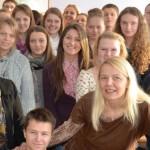 Žurnalistė A. Vėželienė Šilalės S. Gaudėšiaus gimnazijoje