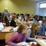 Žurnalistas Z. Kazėnas Kauno Martyno Mažvydo vidurinėje mokykloje