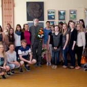 Pianistas Petras Geniušas Švenčionių Zigmo Žemaičio gimnazijoje, 2013-05-15